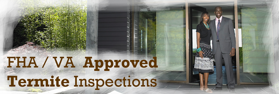 FHA / VA Approved Termite Inspections