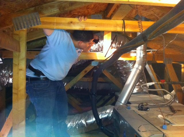San Diego Termite Inspection Process in an Attic